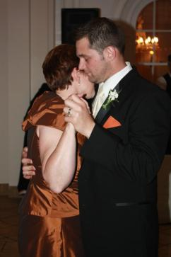 "Dancing with Brian to ""The Five Pennies"" at his wedding."