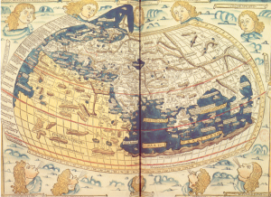 World of Ptolemy as shown By Johannes de Armsshein, Ulm, 1482 [Public domain], via Wikimedia Commons