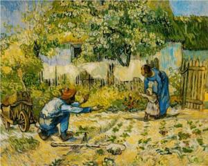 """First Steps (after Millet)"" Vincent Van Gogh, 1890 Metropolitan Museum of Art, via wikipaintings.org"