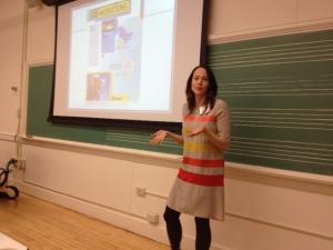 Anna Gratz Cockerille sharing strategies to help children improve their informational writing.