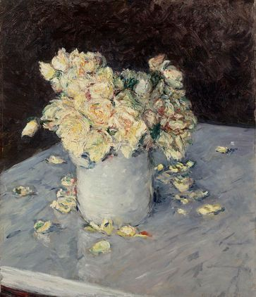 Yellow Roses in a Vase, 1882 Gustave Caillebotte Dallas Museum of Art, The Eugene and Margaret McDermott Art Fund, Inc., via Wikimedia