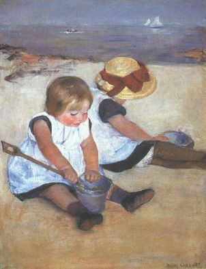 """Cassatt Mary Children on the Beach 1884"". Licensed under Public domain via Wikimedia Commons - http://commons.wikimedia.org/wiki/File:Cassatt_Mary_Children_on_the_Beach_1884.jpg#mediaviewer/File:Cassatt_Mary_Children_on_the_Beach_1884.jpg"