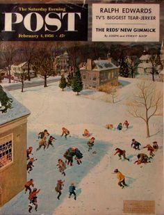 Saturday Evening Post cover by John Clymer, 1956