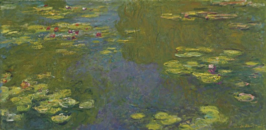 Le bassin aux nymphéas Claude Monet , 1919 [Public domain], via Wikimedia Commons