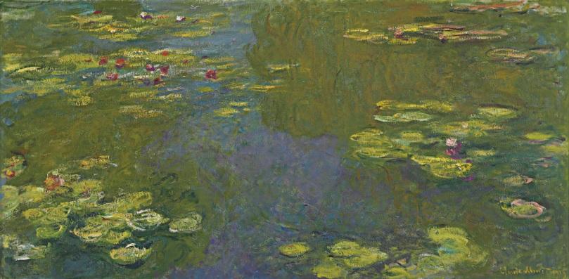 Le bassin aux nymphéas Claude Monet , 1919 [Public domain], via Wikimedia Commons