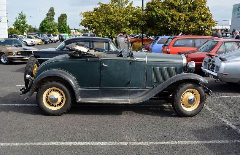 Sadly, I don't have a photo of Uncle Jack's car. This is the closest copyright-free image I could find. By GPS 56 from New Zealand (1930 Ford Model A Roadster) [CC BY 2.0 (http://creativecommons.org/licenses/by/2.0)], via Wikimedia Commons