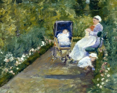 """Children in the Garden (The Nurse)"" Mary Cassatt, 1878 [Public domain], via Wikimedia Commons"