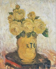 Les Roses jaunes, Pierre Laprade, 1920  [Public domain], via Wikimedia Commons
