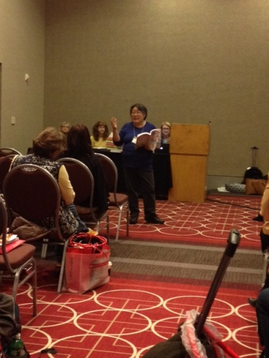 Janet Wong, Sylvia Vardell, Susan Marie Swanson, and Laura Purdie Salas leading a session on poetry, of course!