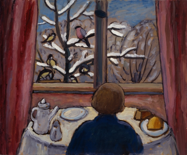Gabriele Münter, Breakfast of the Birds, 1934; © 2012 Artists Rights Society (ARS), New York / VG Bild-Kunst, Bonn - See more at: http://nmwa.org/works/breakfast-birds#sthash.eKbv2uZn.dpuf