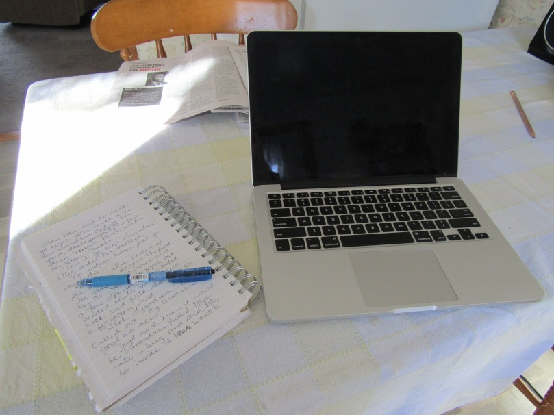 Breakfast's over. Time to write my slice, work on my WIP, and read.