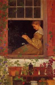"""Morning Glories"" Winslow Homer 1873"