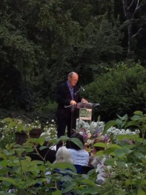 Billy Collins at the Sunken Garden Poetry Festival, August 2013
